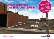 Se vende terreno carabayllo urb esmeralda c titulo 2007 dormitorios 90 m2