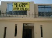 SE VENDE AMPLIA CASA EN VILLA EL SALVADOR $138,000