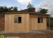 Campamentos prefabricados de madera peru casacom