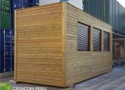 Habitaciones de madera para terrazas en surco