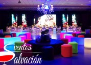 Alquiler de salas lounge – menaje – barras ilumina