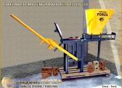 Prensas para fabricar ladrillos más resistentes y económicos