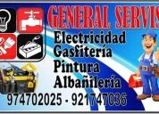 Gasfitero electricista pintor