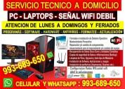 Tecnico de computadoras internet laptops red wifi