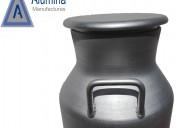Porongos de alumino para leche
