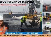 Obras de asfaltado y reparaciones de vías 2019