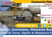 Maquinaria pesada para construcción excavaciones