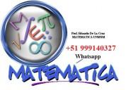 profesor particular de matemÁtica lima 999140327
