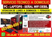 Servicio tecnico a pc internet laptops reparacion