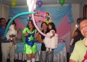 Animadoras y clauns, chicotecas, fiesta infantil