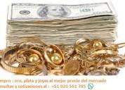 Compro oro en joya cadenas relojes anillos de mina