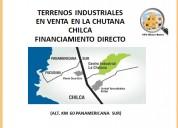 Lotes industriales la chutana chilca 2616 m² c/u