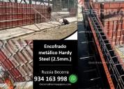 Venta y alquiler de encofrado metÁlico - 2.5 mm.