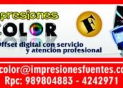 Impresión láser a color en perú: a4, a3, ploteo pl
