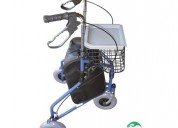 Andador ortopédico 3 ruedas c/cesta rollator