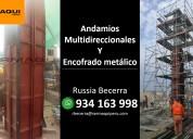 alquiler de andamios normados y encofrados metalic