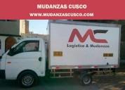 Servicio profesional de mudanzas en cusco