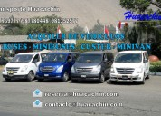 Alquiler de buses, custer y minivan h1
