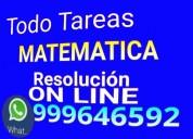 Tareas solucion. matematica x whatsapp