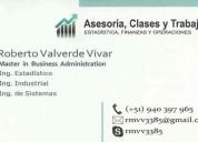 Asesorías de tesis y trabajos estadística