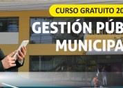 Curso gratuito gestiÓn pÚblica municipal 2019