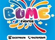 """""""bume eventos"""" ofrecemos lo mejor para tu evento!"""