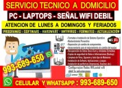 Tecnico de computadoras,redes wifi,laptops,desbloqueo wifi,a domicilio todos los distritos