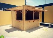 Kioscos prefabricados de madera ecológica - osb