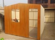 Fabricacion montaje de modulos de madera para obra