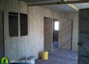 Venta de modulos de madera para oficinas y almacen