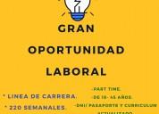 Gran oportunidad laboral