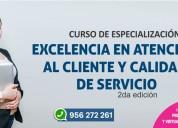 Curso de excelencia en atenciÓn al cliente