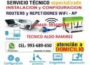 Tecnico de computadoras,laptops,redes wifi,configuraciones wifi,todo cono norte