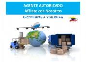 Afilia tu negocio y envía encomiendas a venezuela