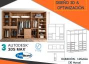 Curso diseño y modelado de muebles de melamina 3d