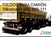 Toldos, tolderas y mantas para camiones de carga p