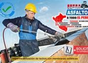 Mantos asfaltico gravillado 3mm, 4mm consulte