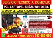 Tecnico de computadoras,laptops,configuraciones redes wifi,internet wifi,a domicilio