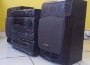 Equipo de sonido aiwa 115w x 2     s/.310