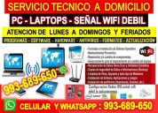 Servicio tecnico a internet wifi,pcs y laptops