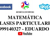 Clases de particulares de matematica 999140327