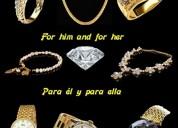En venta joyas para mujeres y para hombres