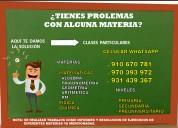 Clases particulares de matemática, física y químic