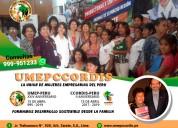 Umepccordis /union de mujeres empresarias del peru
