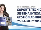 Curso especializado soporte tÉcnico siga mef 2019