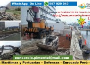 Obras portuarias marítimas defensas ribereñas perú