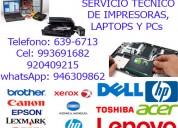 Servicio tÉcnico de impresoras epson, hp 946309862
