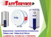 Servicio técnico de termas termotanques sole