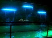 Cascada con luces leds para piscina o jardin