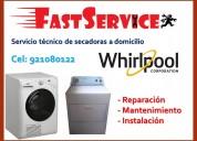 Mantenimiento servicio técnico de lavadoras secado